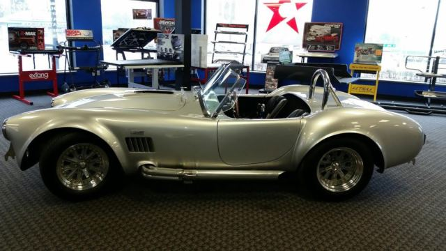 1963 Silver Shelby Cobra 2 door convertible with Black interior