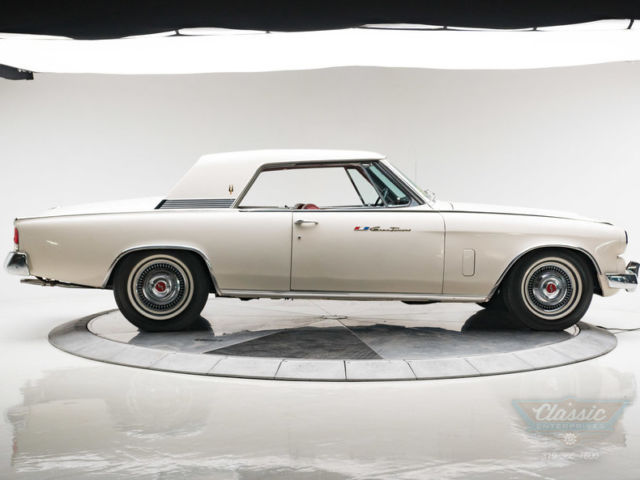 1963 White Studebaker Hawk GT Coupe with Red interior
