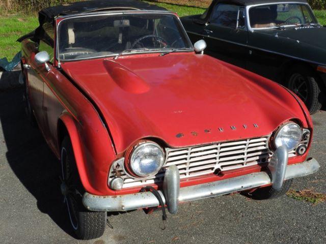 1963 Triumph Tr4 Restoration Project For Sale Photos Technical