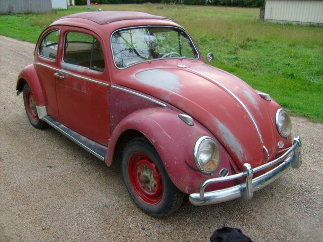 1963 volkswagen beetle ragtop sunroof barn find semi restored no reserve for sale photos. Black Bedroom Furniture Sets. Home Design Ideas