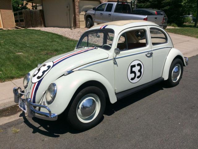 1963 VW Beetle Herbie Fully Animatronic Volkswagen Love ...