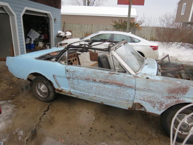 1964 1 2 Ford Mustang Convertible Project Car Original 260 V 8
