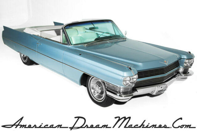 1964 Cadillac Series 62 Convertible, Firemist Blue/White, 429/340hp, Autom