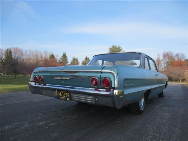1964 Blue Chevrolet Biscayne Coupe with Blue interior