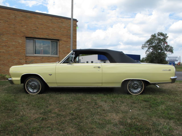 1964 Chevrolet Chevelle Malibu Ss Convertible 327 4 Spd Goldwood Yellow For Sale Photos