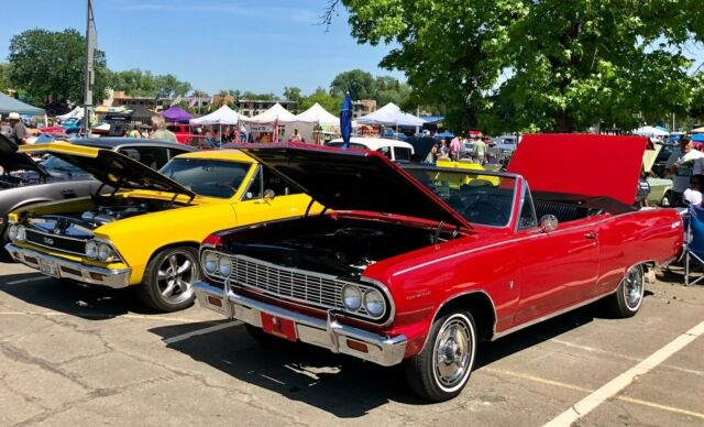 1964 Red Chevrolet Chevelle Convertible with Black interior