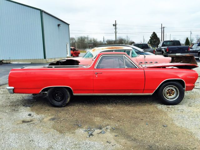 1964 Chevrolet El Camino Wrecked Project Car 350 4 speed NO