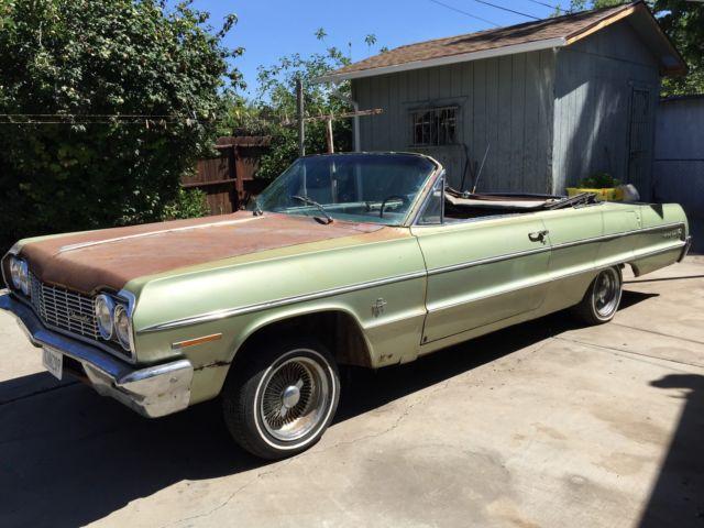 1964 Chevrolet Impala Convertible Barn Find Original 409 4 Sd Car