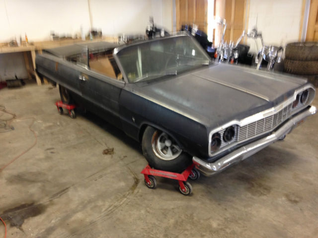 1964 chevrolet impala convertible full project clear title for sale photos technical. Black Bedroom Furniture Sets. Home Design Ideas