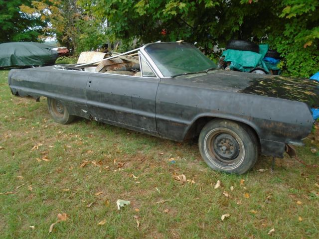 1964 Chevrolet Impala Convertible Project Tons Of Extra Parts Collected