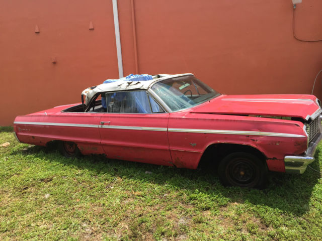 1964 chevrolet impala ss convertible complete car needing restoration for sale photos. Black Bedroom Furniture Sets. Home Design Ideas