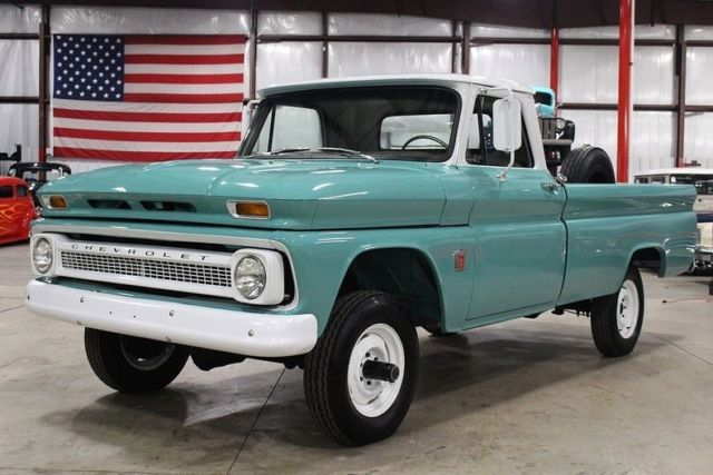 1964 Chevrolet K 10 54237 Miles Seafoam Green Pickup Truck 292 6 Cyl Manual