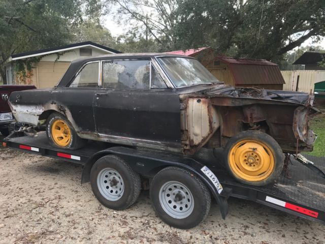 1964 CHEVROLET NOVA OLD DRAG CAR PROJECT BARN FIND GASSER