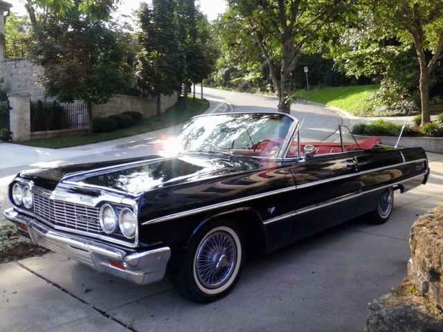 1964 chevy impala convertible beautiful condition for sale photos technical specifications. Black Bedroom Furniture Sets. Home Design Ideas