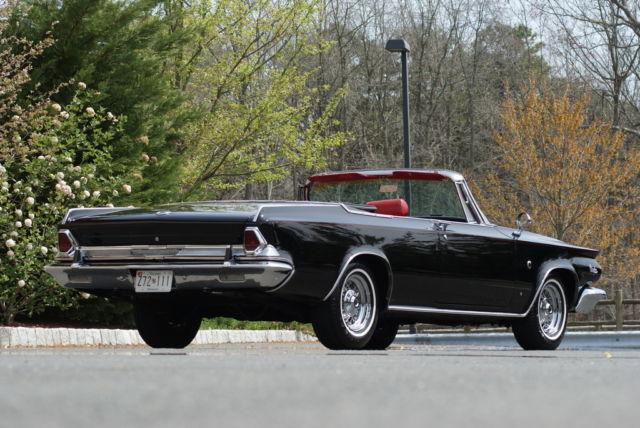 1964 chrysler 300k convertible black red 413ci 360hp - Chrysler 300 red interior for sale ...