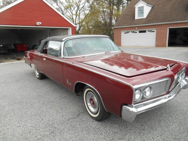 1964 Chrysler Imperial Convertible 413 V8 Factory AC Classic Luxury Mopar