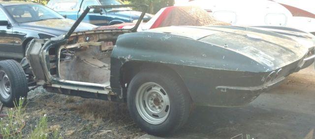 1964 Corvette Convertible PROJECT! Body Tub & Frame 1963