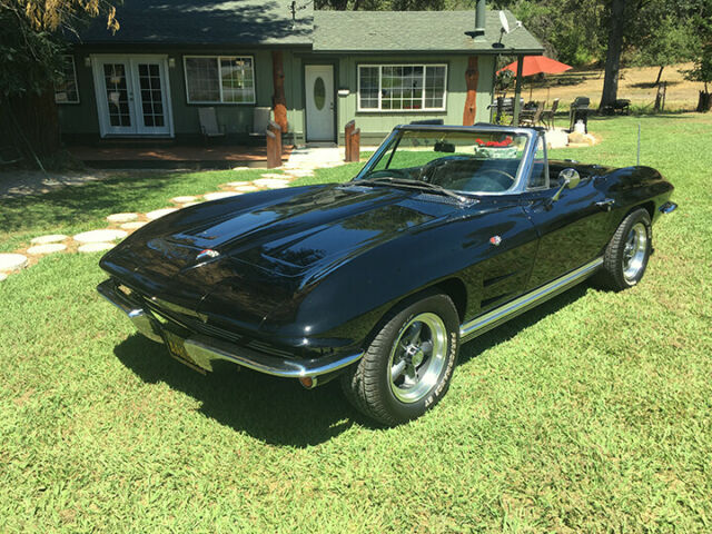 1964 Black Chevrolet Corvette Convertible with Black interior