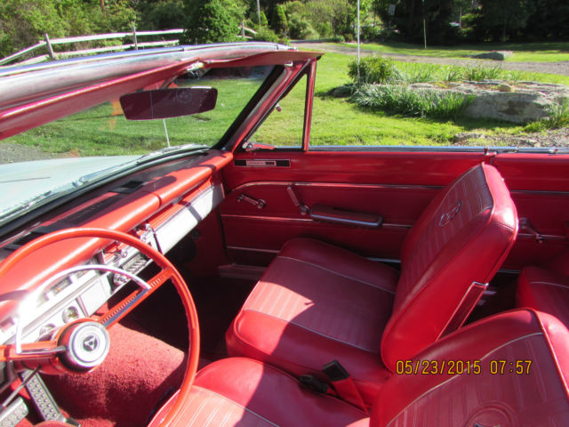 1964 White Dodge Dart GT Convertible with Red interior