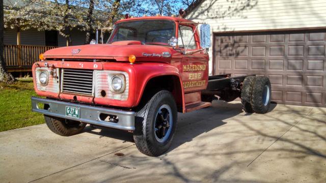 1964 F850 Super Duty Fire Truck 95 Rust Free Car Hauler For Sale