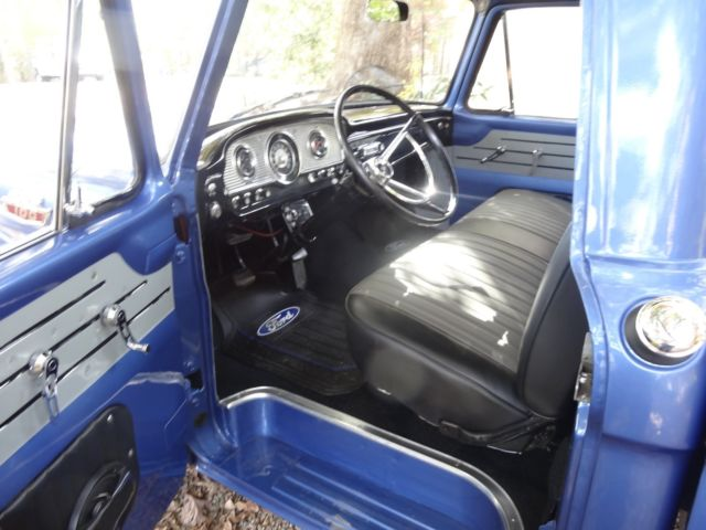 1964 METEZER BLUE Ford F-100 SHORT BED with BLACK AND GRAY interior