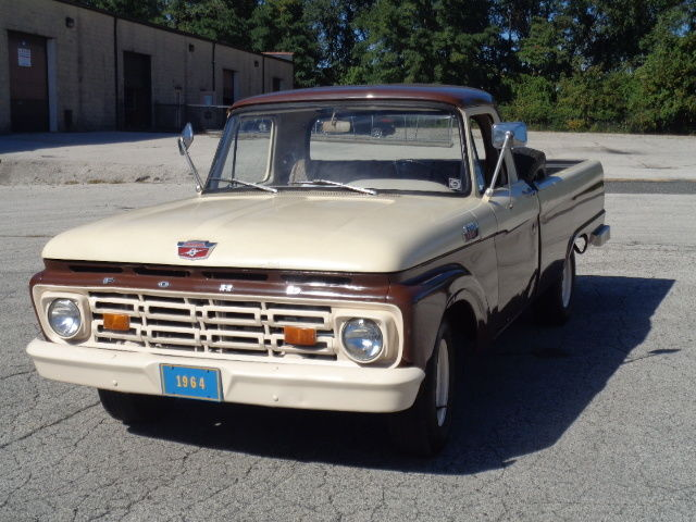 1964 ford f100 regular cab v6 engine 3spd only 36k clean for sale photos technical