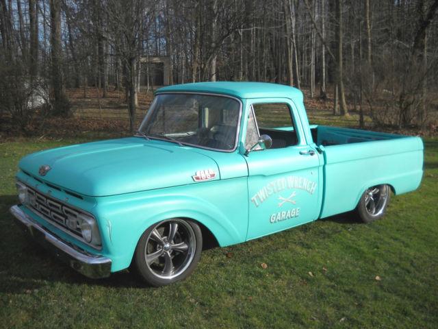 1964 ford f100 shortbed restomod custom lowered 4 6 v8 show truck turnkey hotrod for sale. Black Bedroom Furniture Sets. Home Design Ideas