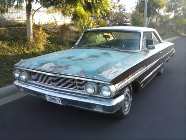 1964 Aqua Marine (Turquoise) Ford Galaxie U/K with Aqua Marine interior
