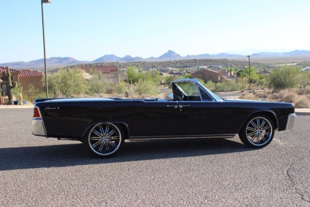 1964 lincoln continental 4 door convertible rare triple black factory air for sale photos. Black Bedroom Furniture Sets. Home Design Ideas