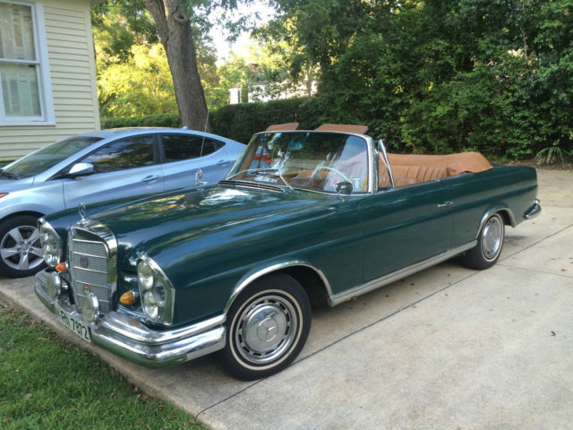 1964 Mercedes-Benz 200-Series Mercedes 220se Factory Cabriolet, Manual trans