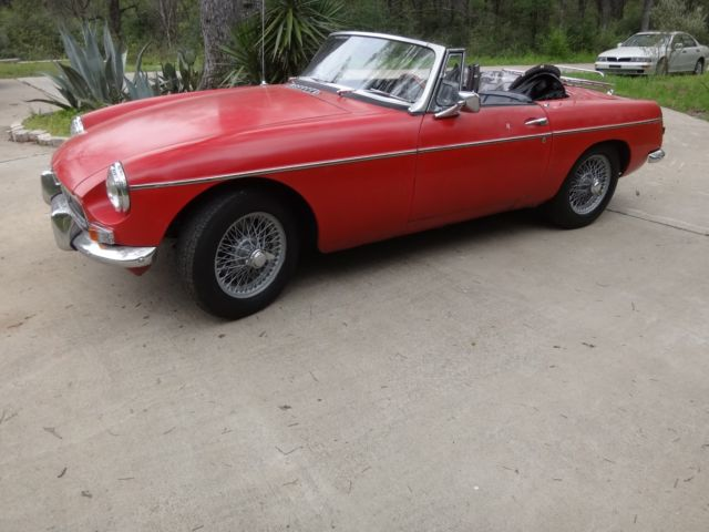 1964 MG MGB Mk I pull handle