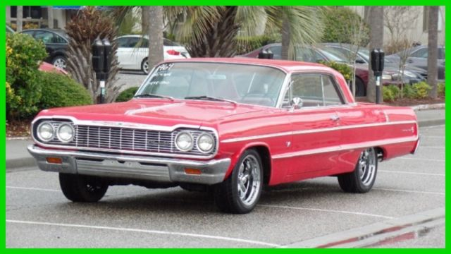 1964 Chevrolet Impala ORIGINAL RED ON RED SOUTHERN RUST FREE CAR-