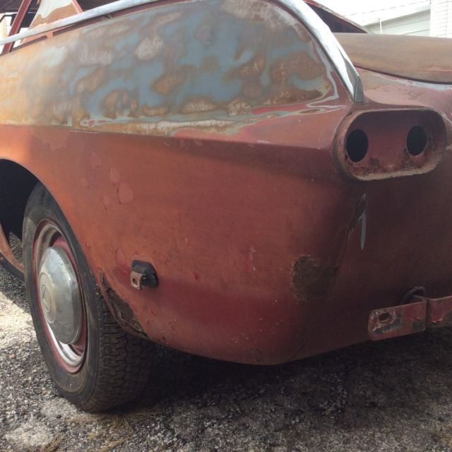 1964 P1800 Project Car. Early Bull Horn Bumper/Egg Crate