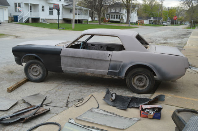 1965 65 64 1 4 Mustang Project Car Sandblasted Primered