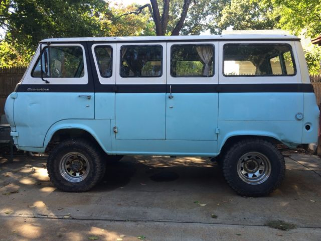 1965 Blue Ford E-Series Van Econoline with Blue interior