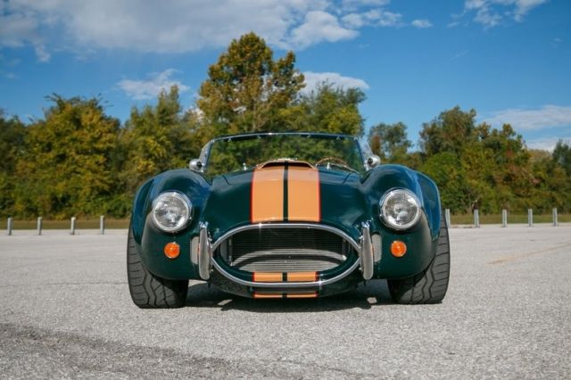 1965 Green Shelby Cobra Convertible with Tan interior