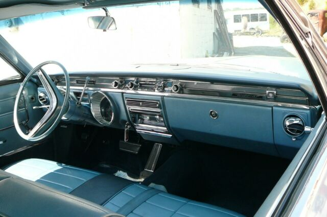 1965 Blue Buick Wildcat Coupe with Blue interior