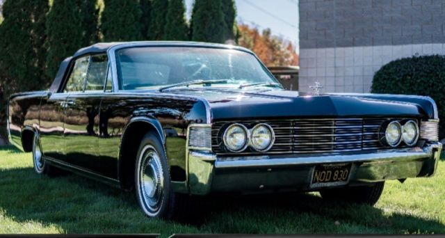1965 Lincoln Continental Black Leather