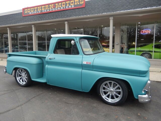 1965 Two tone Chevrolet C-10 Standard Cab Pickup with Tan interior