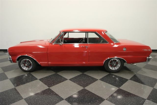 1965 Red Chevrolet Chevy II with Black interior