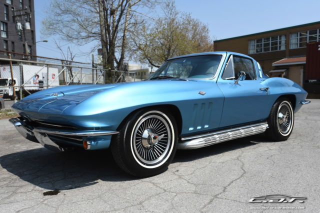 1965 Chevrolet Corvette Nassau blue Covette knock off wheels, side pipes