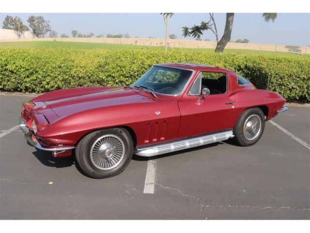 1965 Chevrolet Corvette 9999 Miles Burgundy 327/300HP 5 Speed Manual