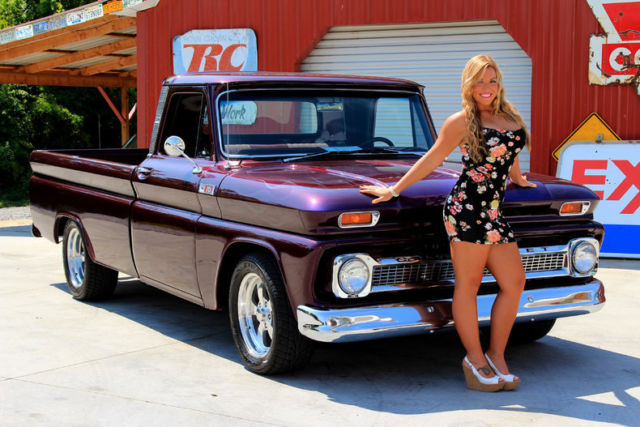 1965 chevy c10 pick up 383 ps pdb vintage ac 4 speed 12 bolt custom