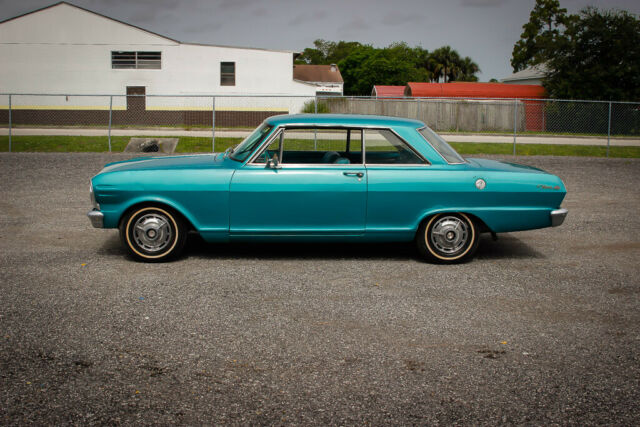 1965 Teal Chevrolet Nova Coupe with Teal interior
