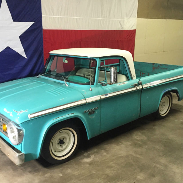 **1965 DODGE D100 SWEPTLINE SHORTBED CUSTOM CAB SWEPTIE