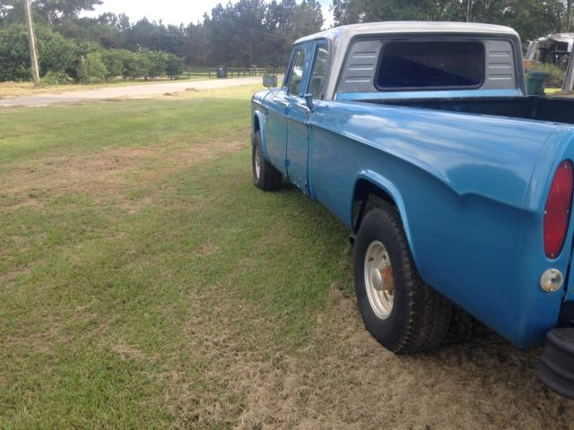 1965 dodge d200 4x4 big block 4 speed crew cab power wagon mopar 4wd granny gear for sale. Black Bedroom Furniture Sets. Home Design Ideas