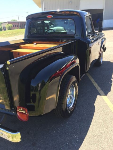 1965 Black Ford F-100 with Black interior