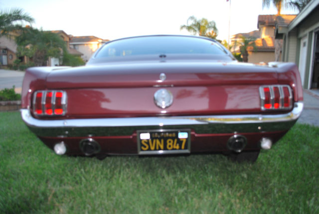 1965 ford mustang 2 2 fastback vintage burgundy fully restored 2nd owner for sale photos. Black Bedroom Furniture Sets. Home Design Ideas