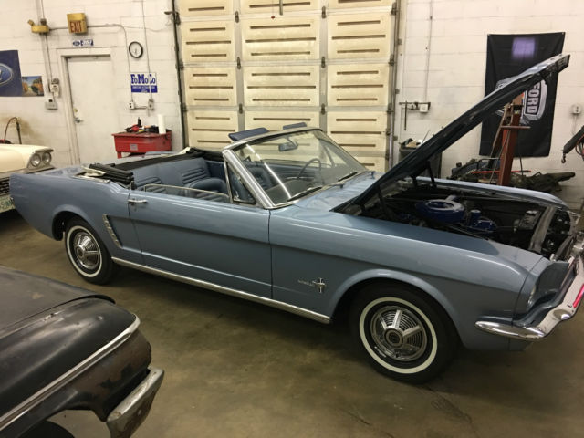 1965 Ford Mustang Skylight Blue Mustang Convertible