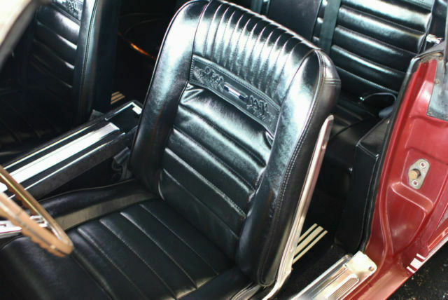 1965 Burgundy Ford Mustang Gt convertible Convertible with Black interior